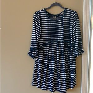 Long sleeved striped dress